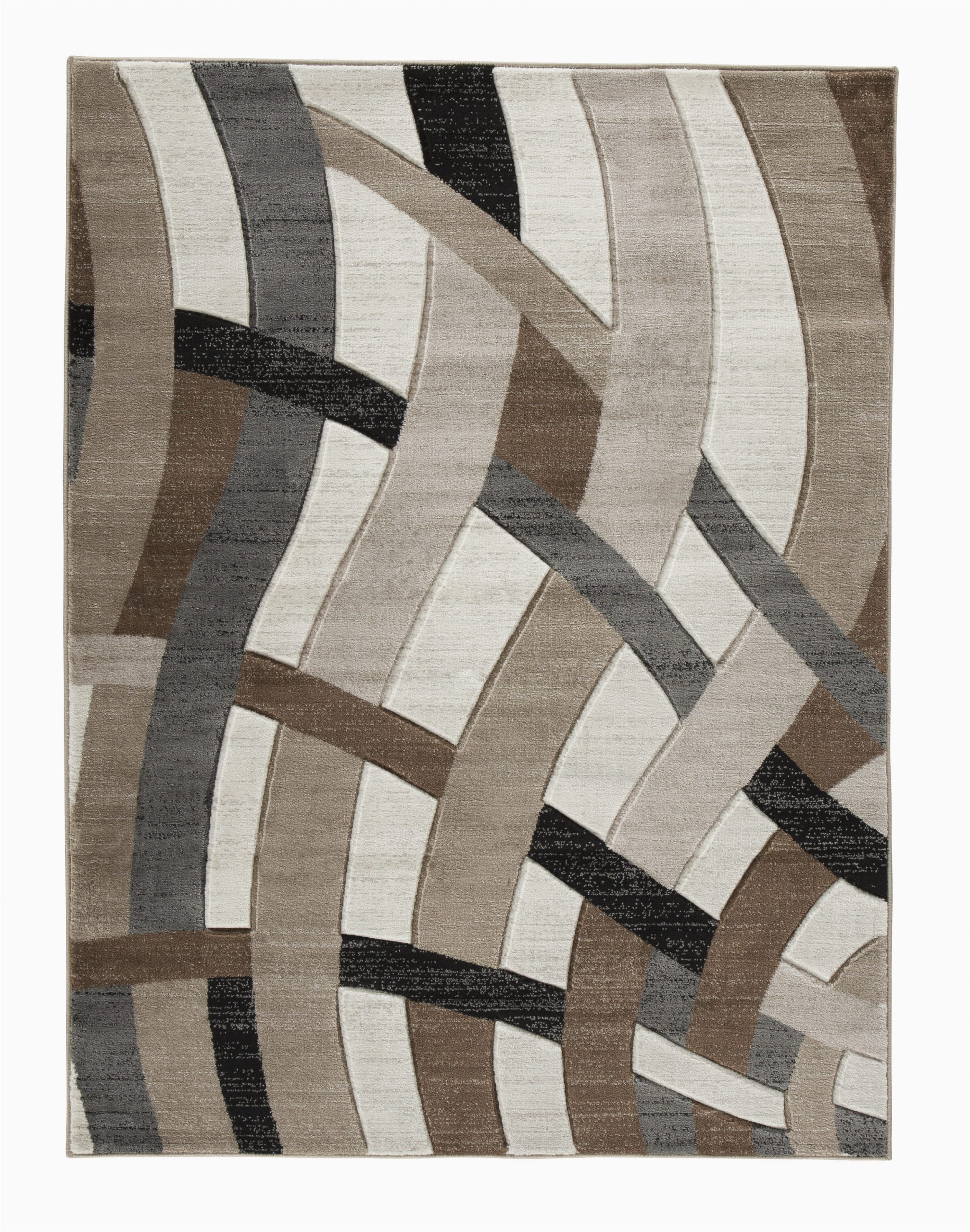 meisner abstract brownwhite area rug