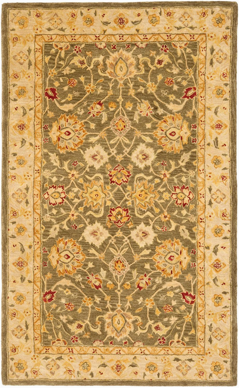 Safavieh Anatolia AN553A Green and Gold rugs
