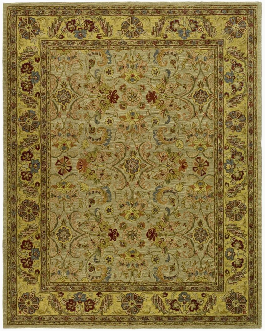 Safavieh Classic CL324A Light Green and Gold rugs