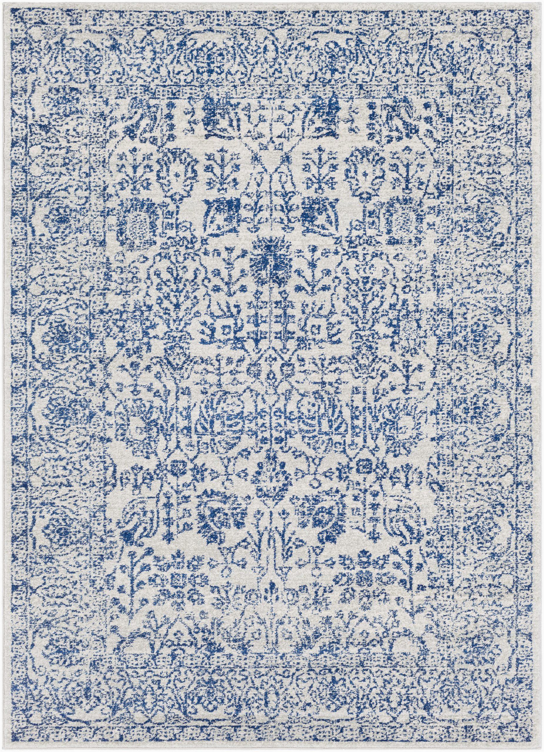 hillsby power loom dark bluelight gray rug