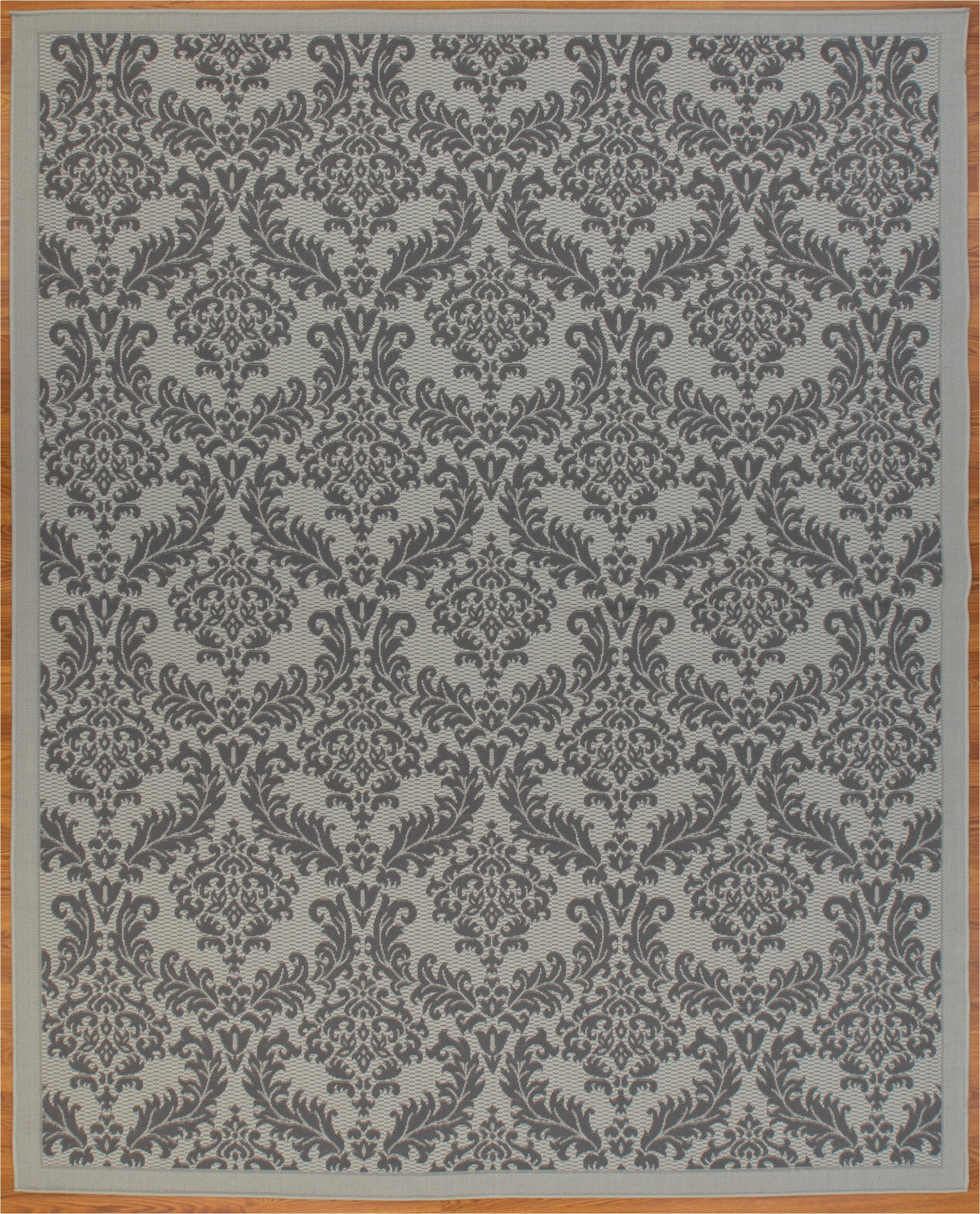House Of Hampton area Rugs Schick House Of Hampton Flatweave Polypropylene Light Gray Anthracite Indoor Outdoor Use area Rug