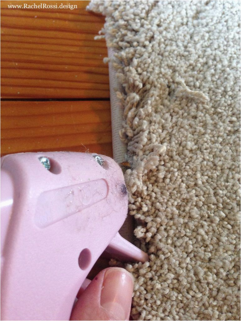 How to Hot Glue Carpet Binding 768x1024