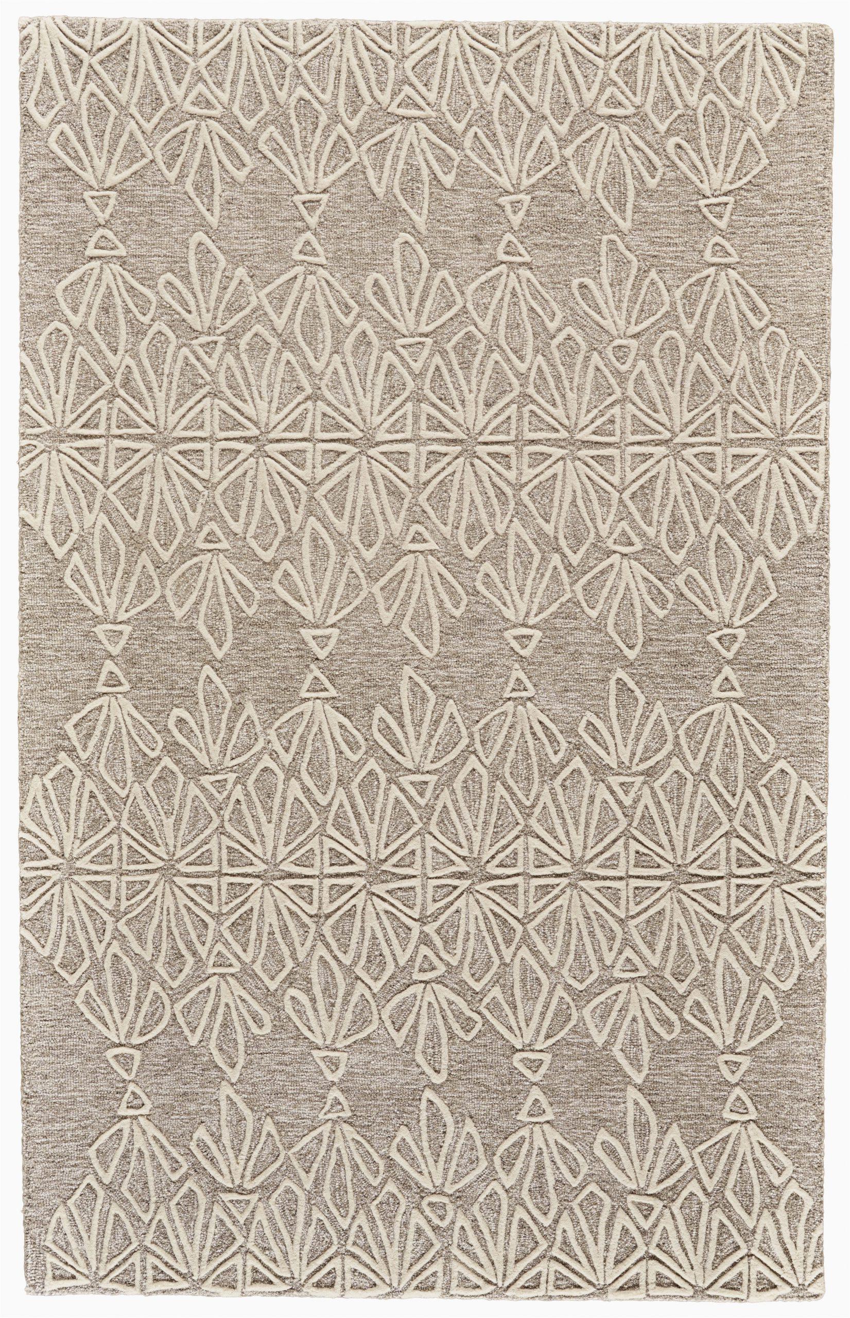 grider handmade tufted ivorytaupe area rug