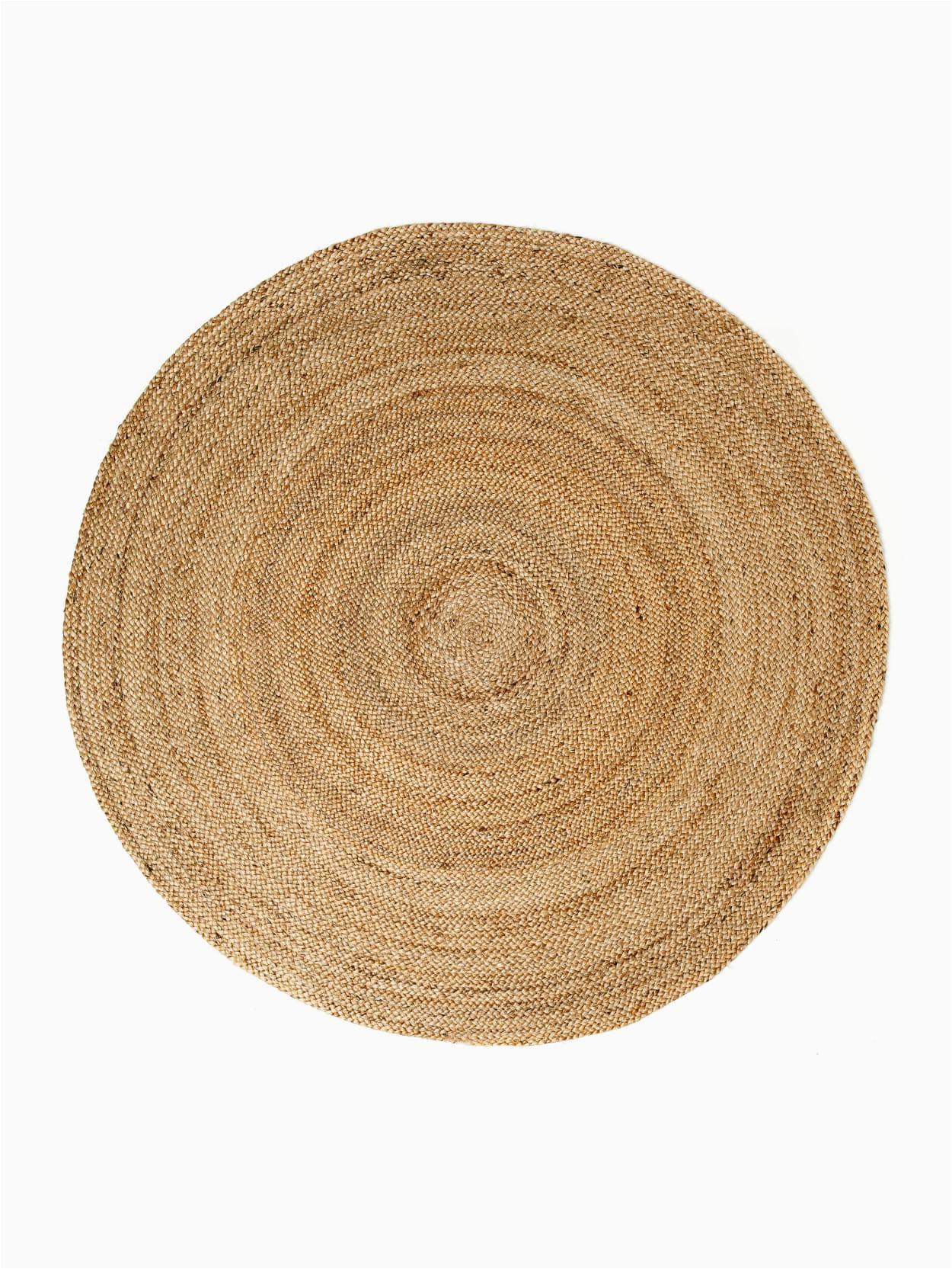 o01 6ft round kerala natural jute rug
