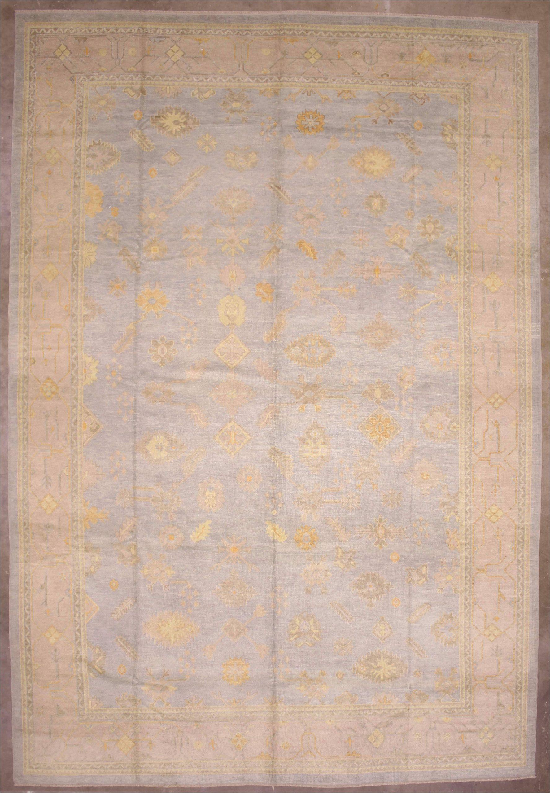 12x18 blue modern oushak area rug 2