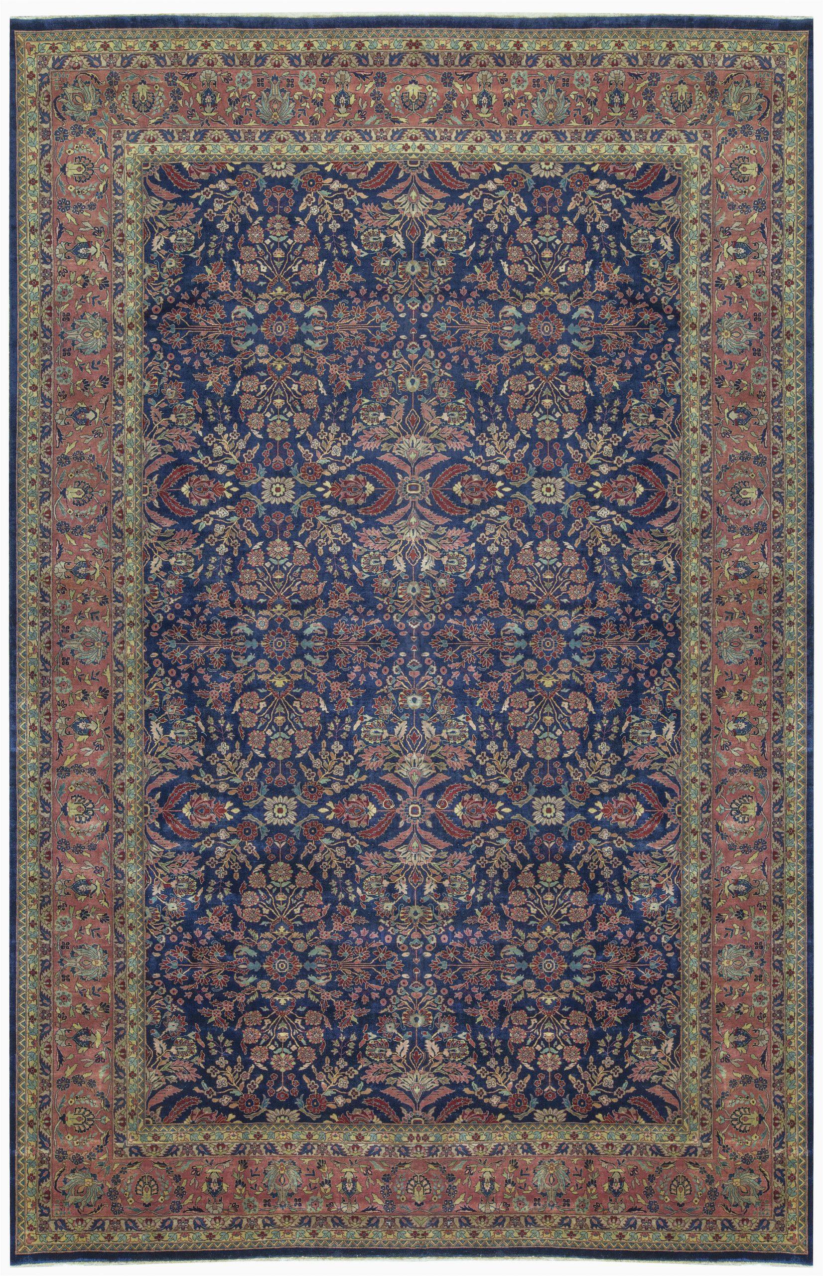 bokara rug co inc one of a kind mahajaran handwoven 12 x 186 wool purpleblue area rug abhd2706