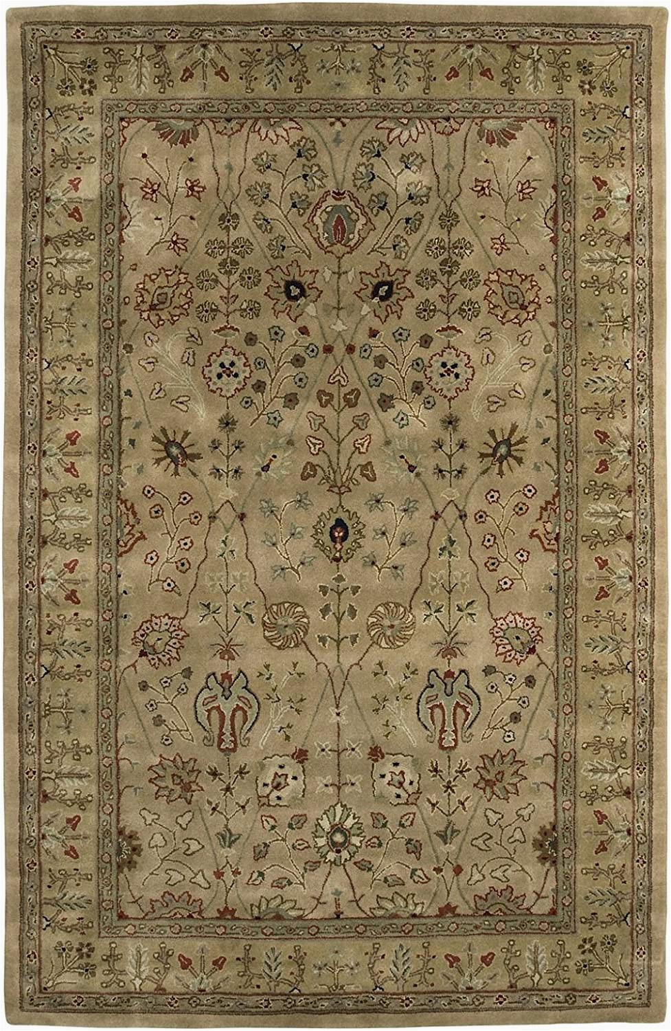 Large Half Moon area Rugs area Rug 7×7 Round Traditional Gold Dark Gold Color Amer
