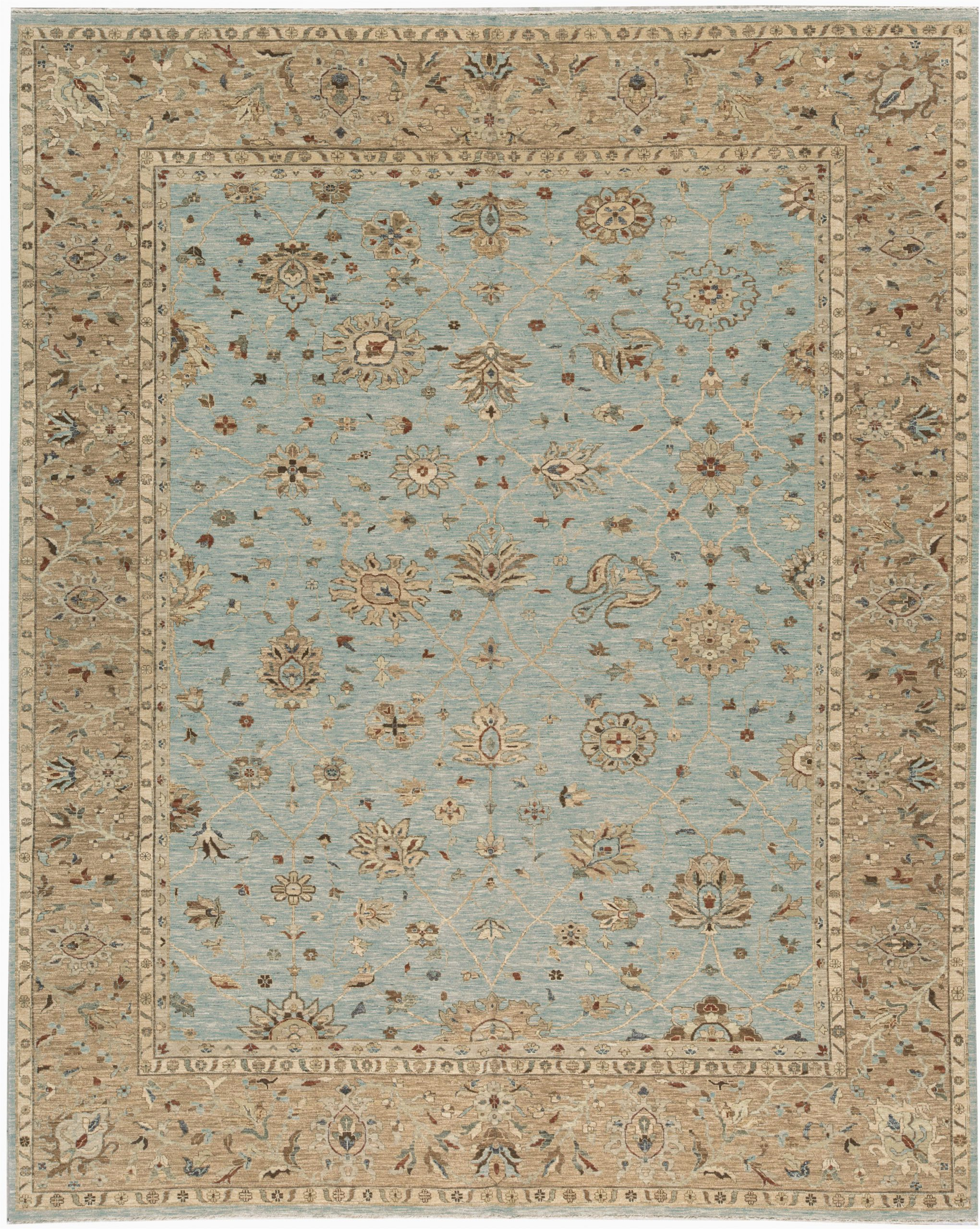 bokara rug co inc one of a kind hand knotted light bluelight brown 122 x 156 wool area rug abhd3757