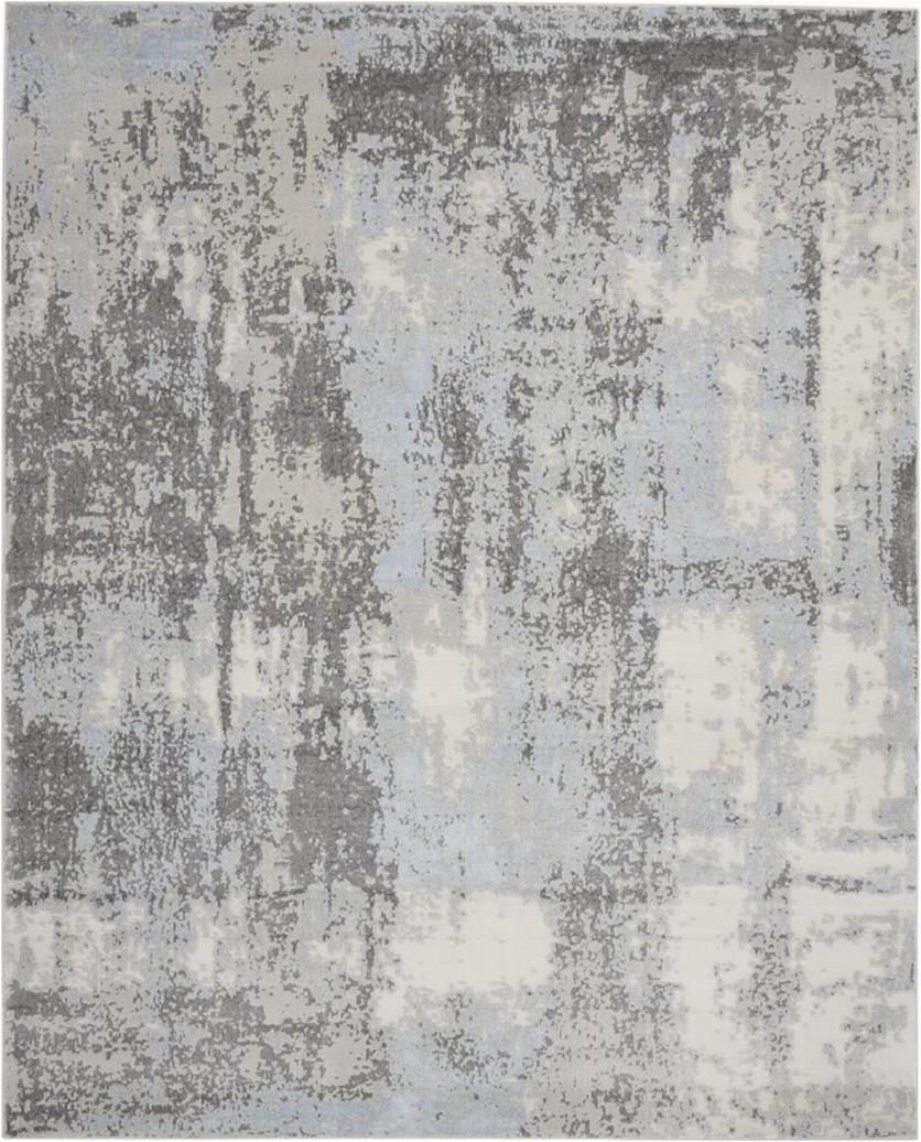 Nourison Etchings ETC02 GreyLight Blue Area Rug p