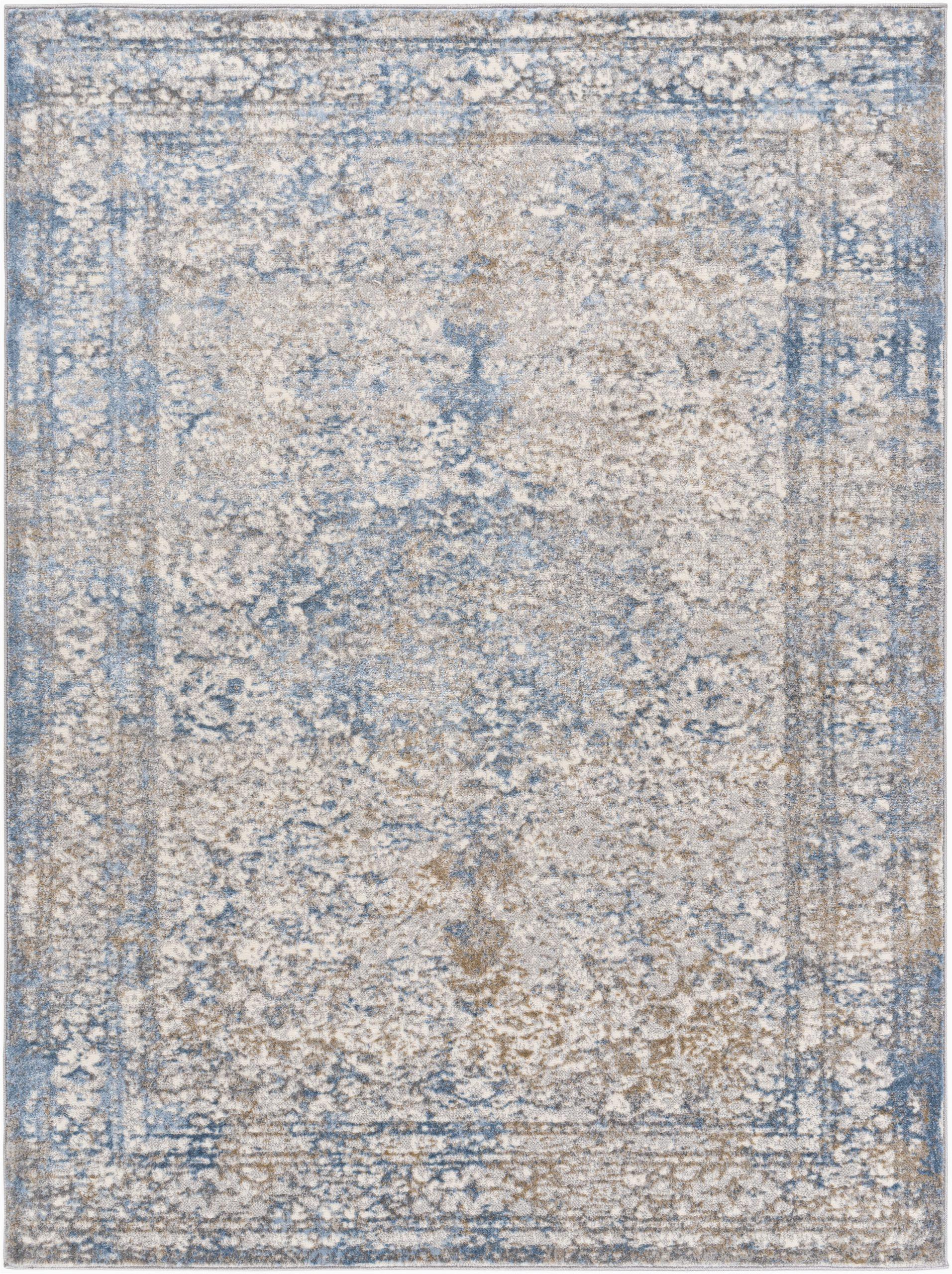 arlyne oriental light bluetan area rug