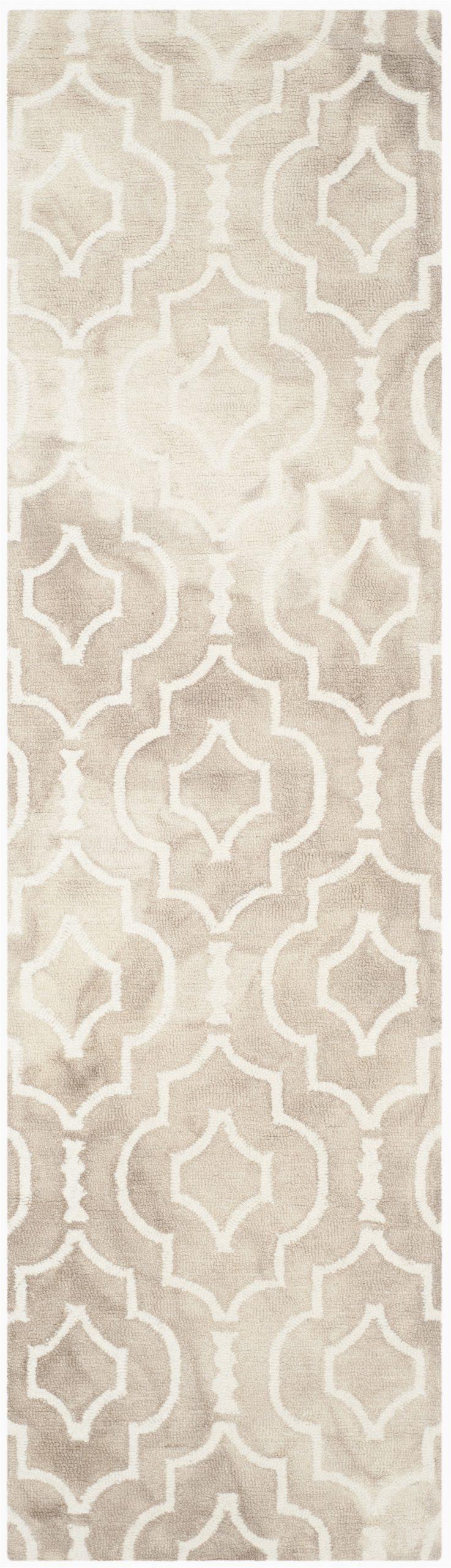 safavieh dip dye rug 10 x 14 wool beigeivory