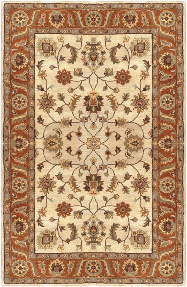 surya crowne traditional area rug 10 ft x 14 ft rectangular beige