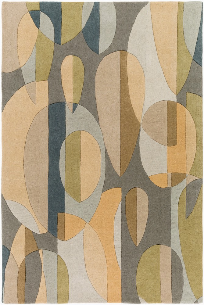 surya forum modern area rug 10 ft x 14 ft rectangular tan