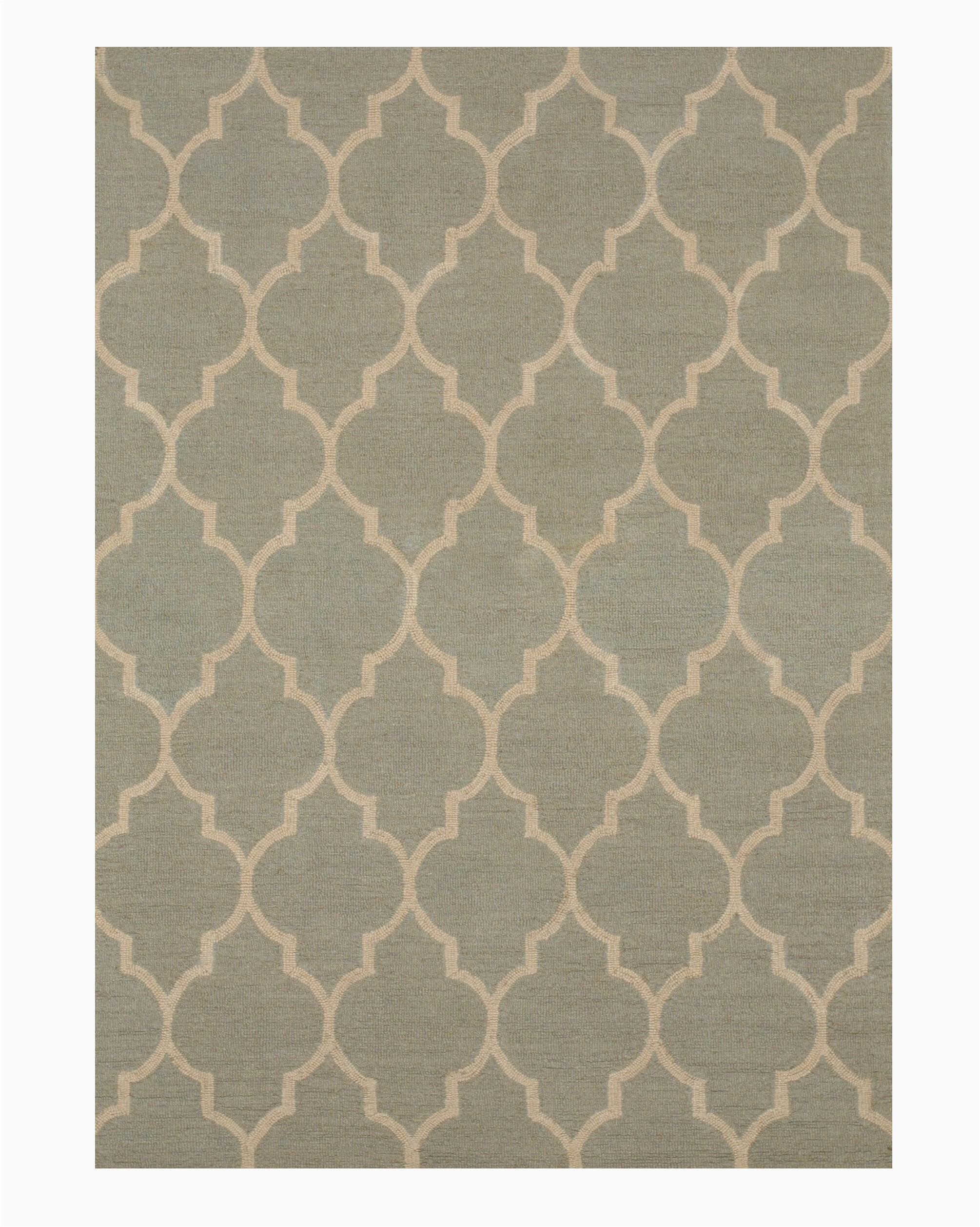 durrant wool traditional trellis hand tufted light green area rug