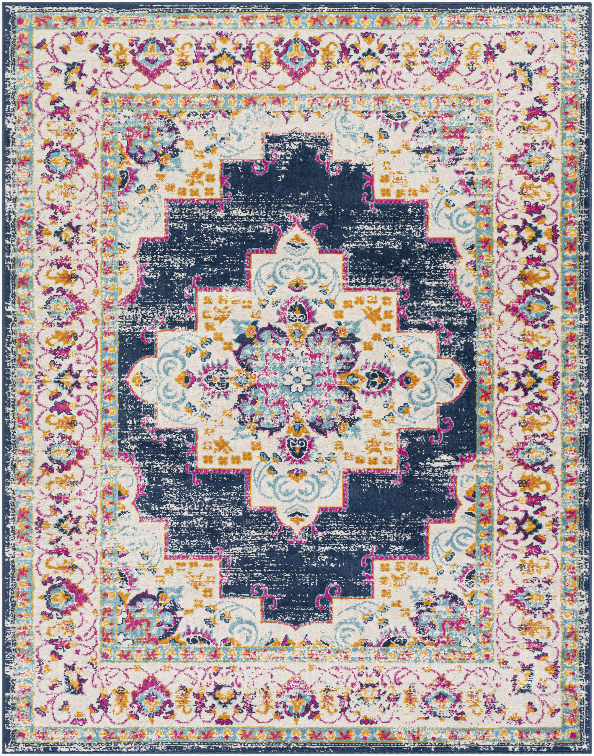 Navy and Pink area Rug Leaver oriental Navy Pink area Rug