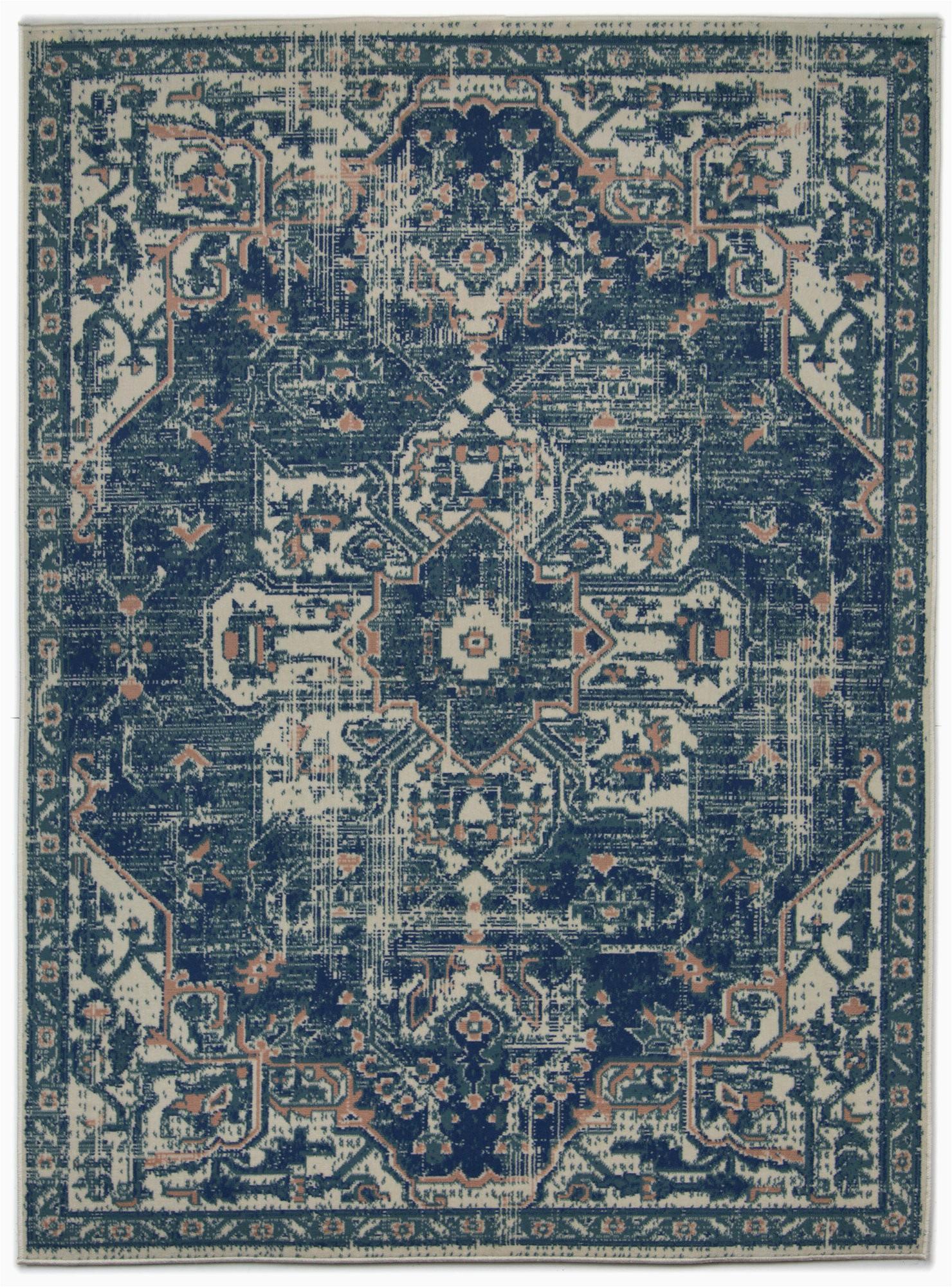 neetu oriental navypink area rug