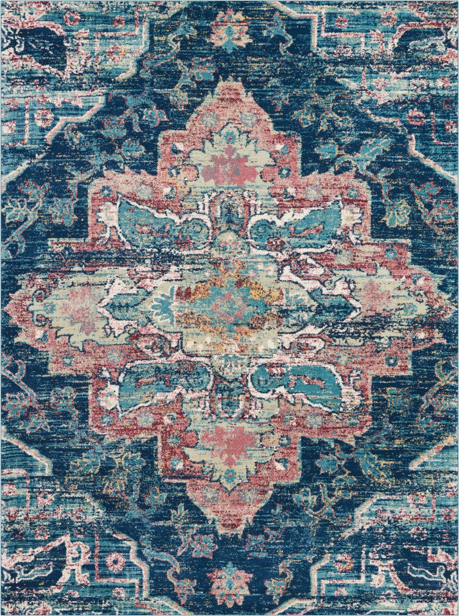 nourison fusion fss13 navy pink area rugx