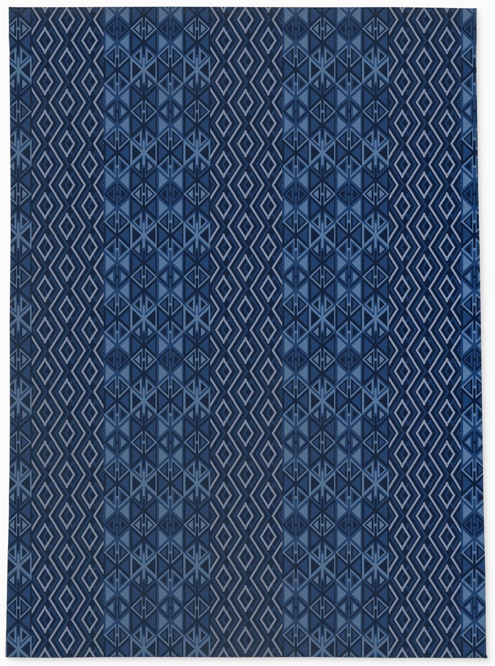 louisiana geometric navy blue area rug