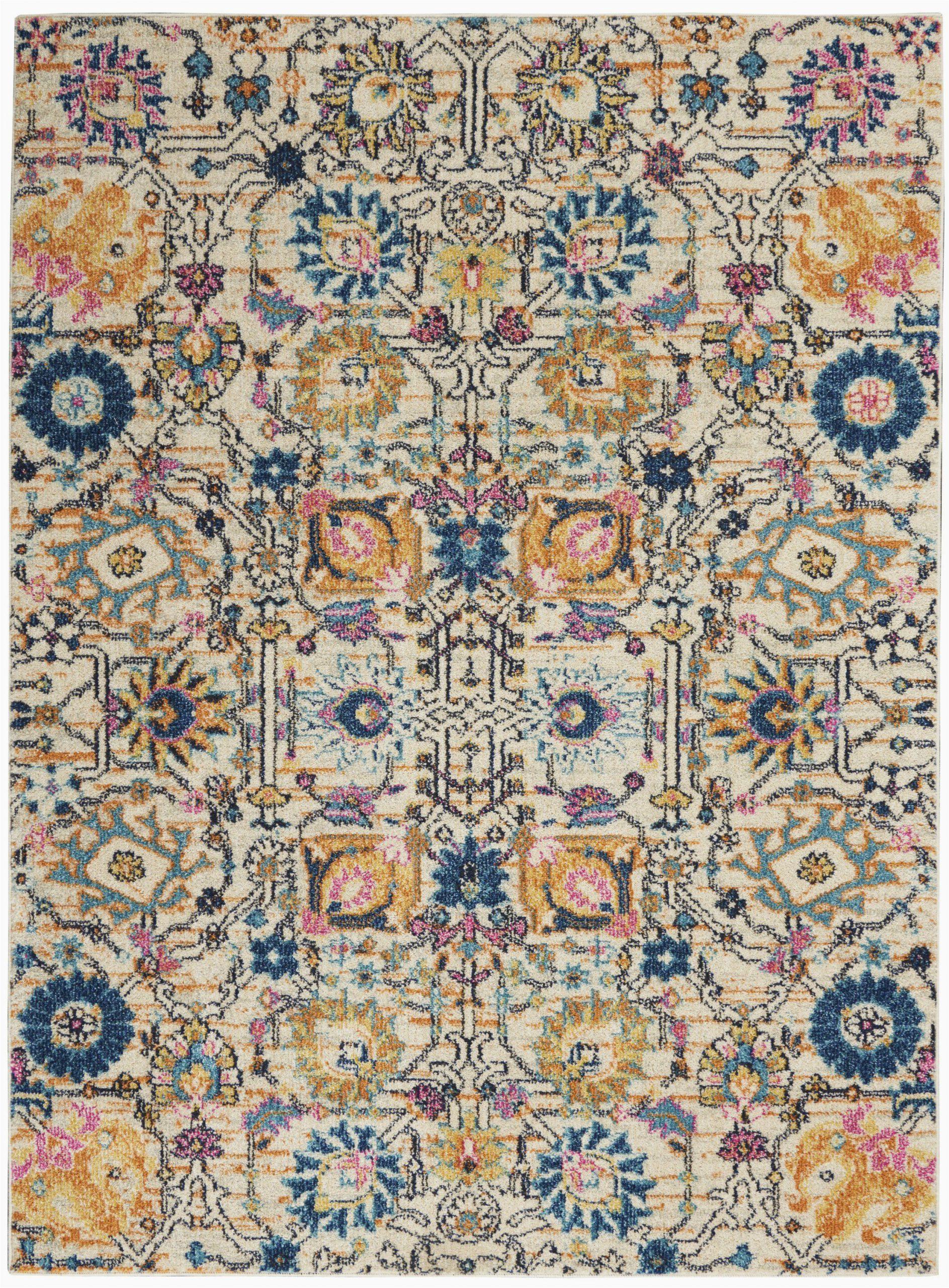 nourison passion 5 x 7 ivory multicolor area rug