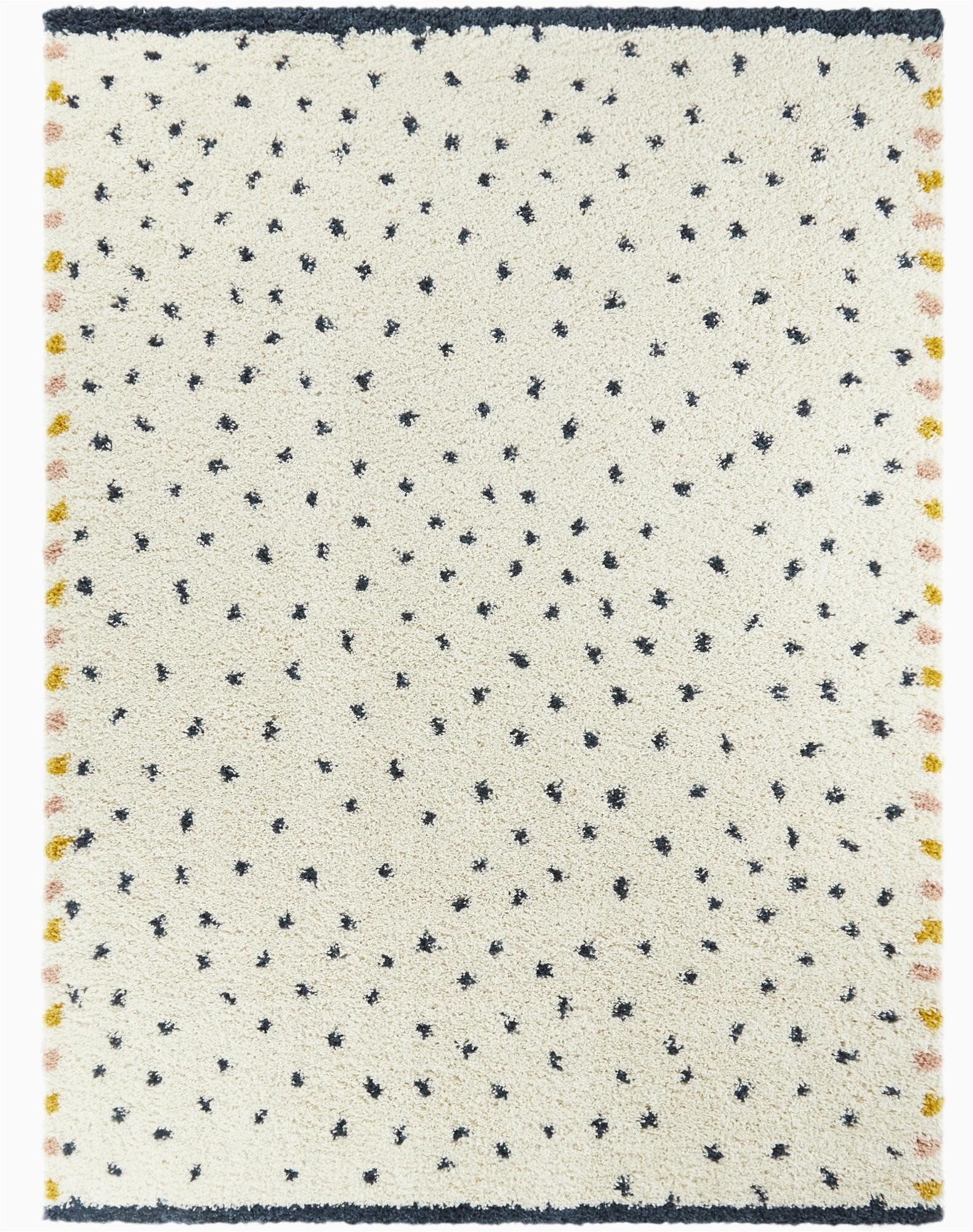 shag blueoff white dalmation dot area rug