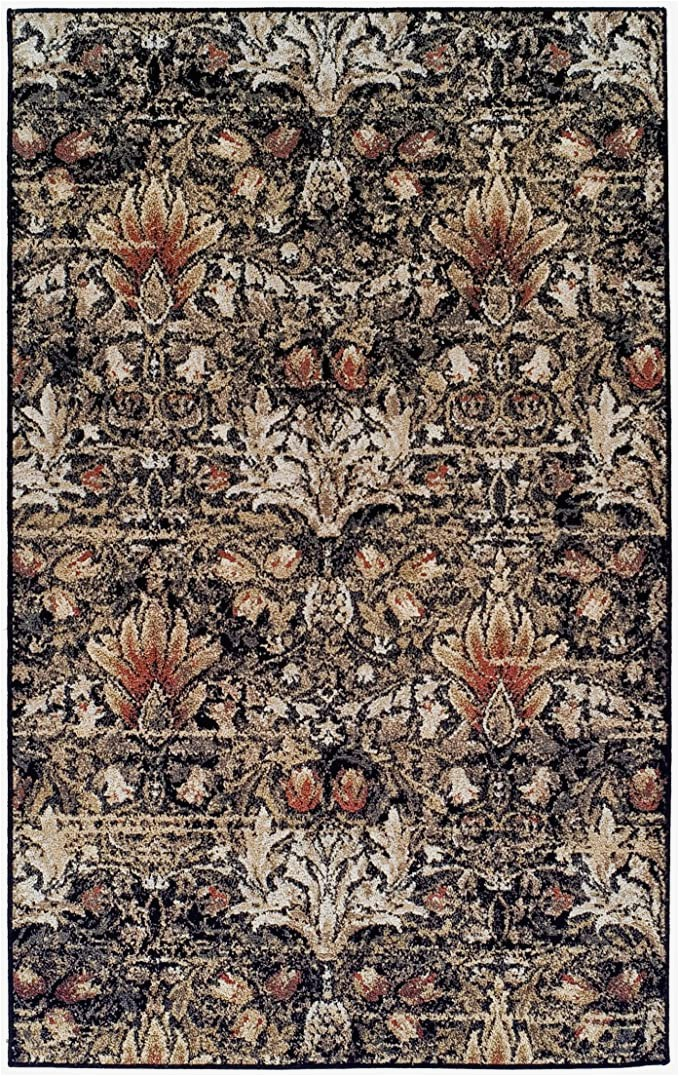 Oriental Weavers Braxton Multi area Rug Superior Designer Braxton area Rug Collection Gorgeous Floral Lotus Pattern 6mm Pile Height with Jute Backing Affordable and Beautiful Rugs 5 X