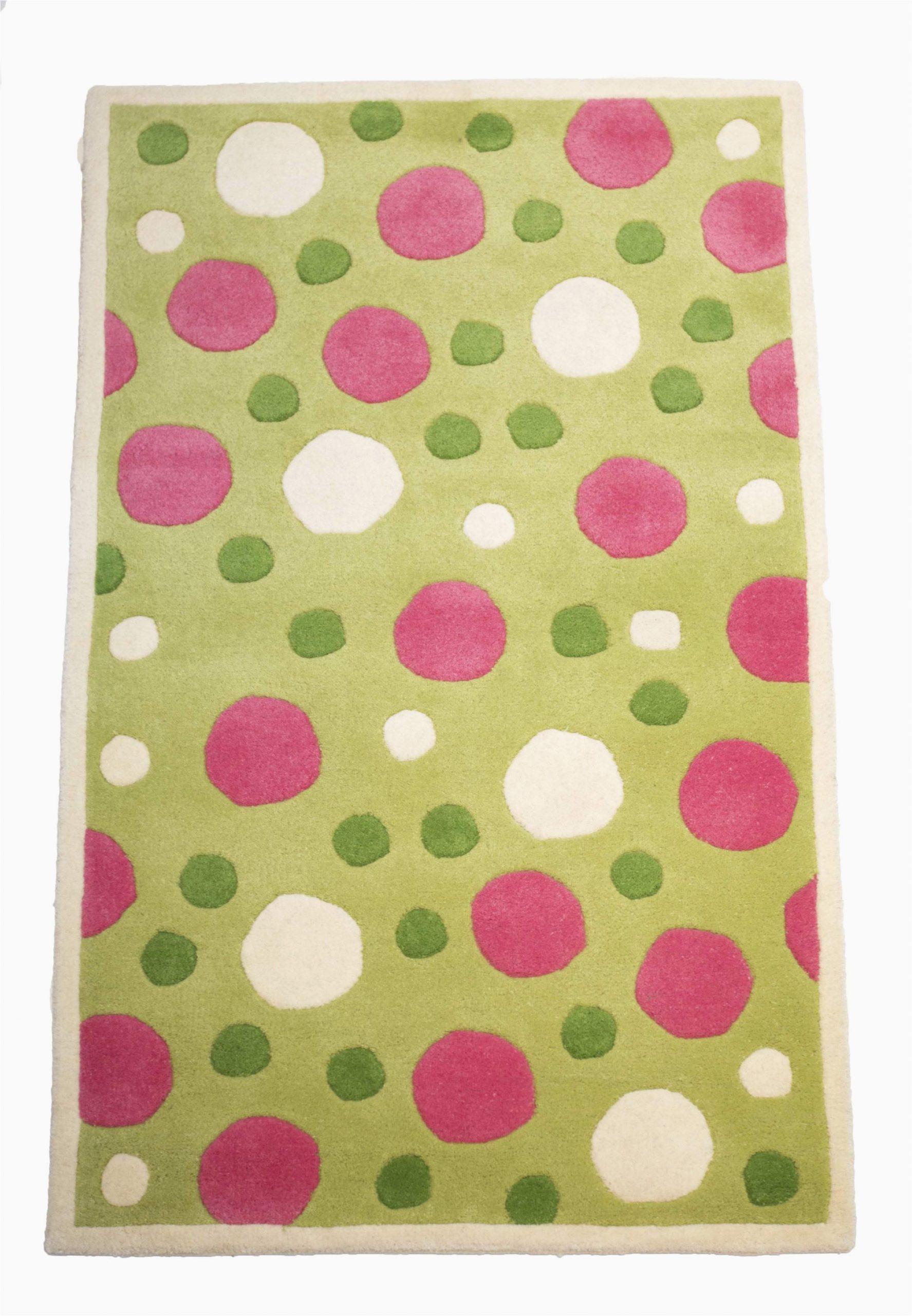 Green and pink polka dot kids room rug rsm3685 rug shop and more 2348x