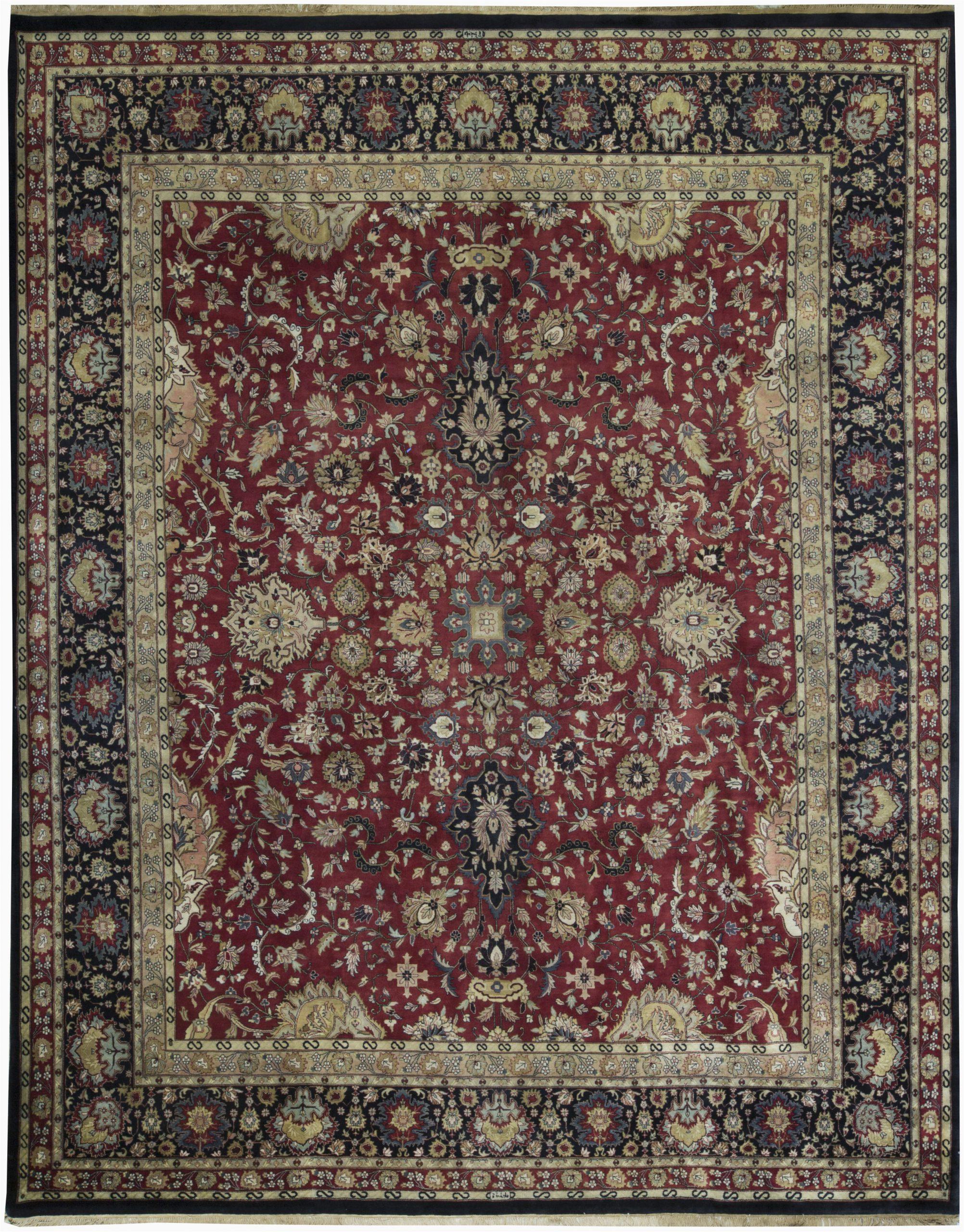 bokara rug co inc one of a kind hand knotted redblackbeige 122 x 154 wool area rug abhd3003