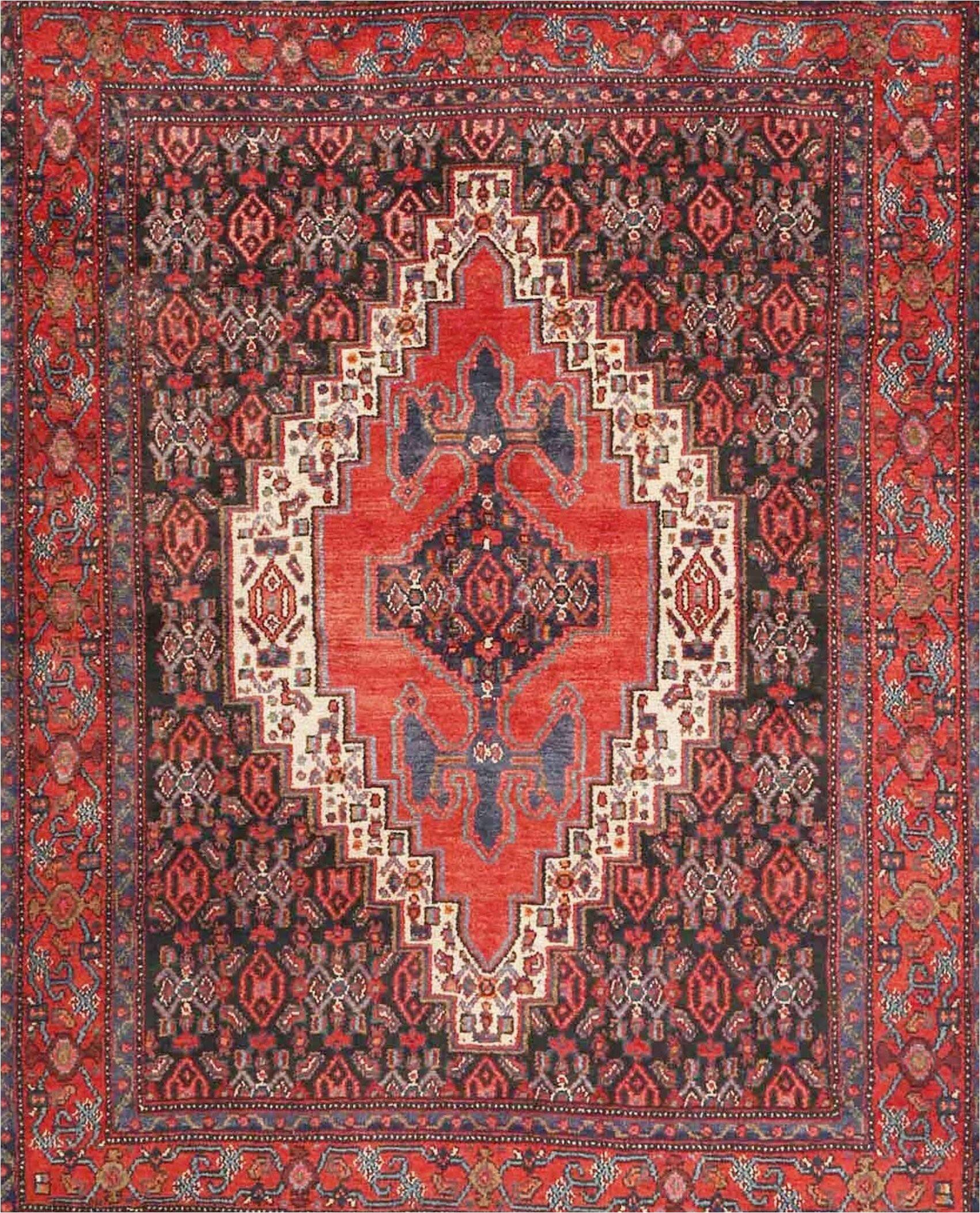 doyle ward traditional redblackcream area rug