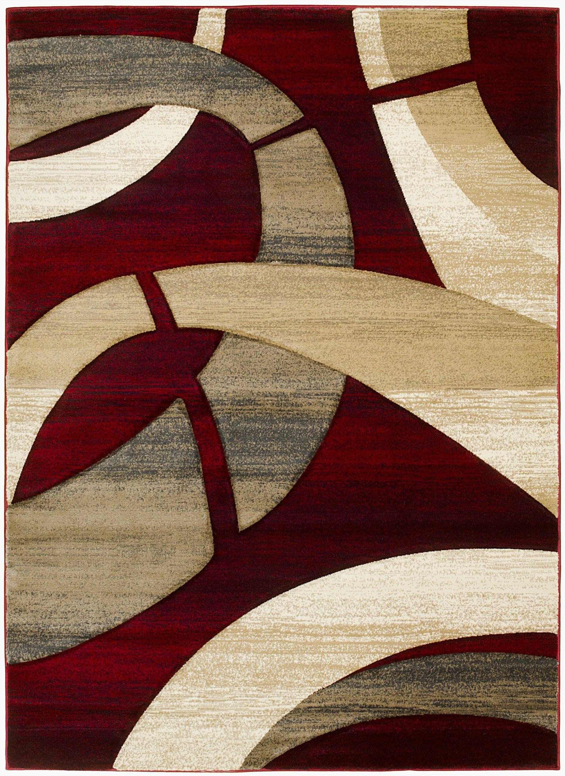 mirabal abstract redtan area rug
