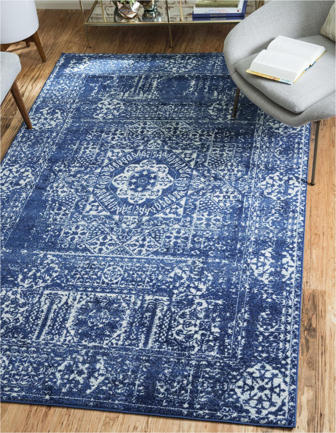 Royal Blue and Grey area Rug Royal Blue 5 X 8 Legacy Rug