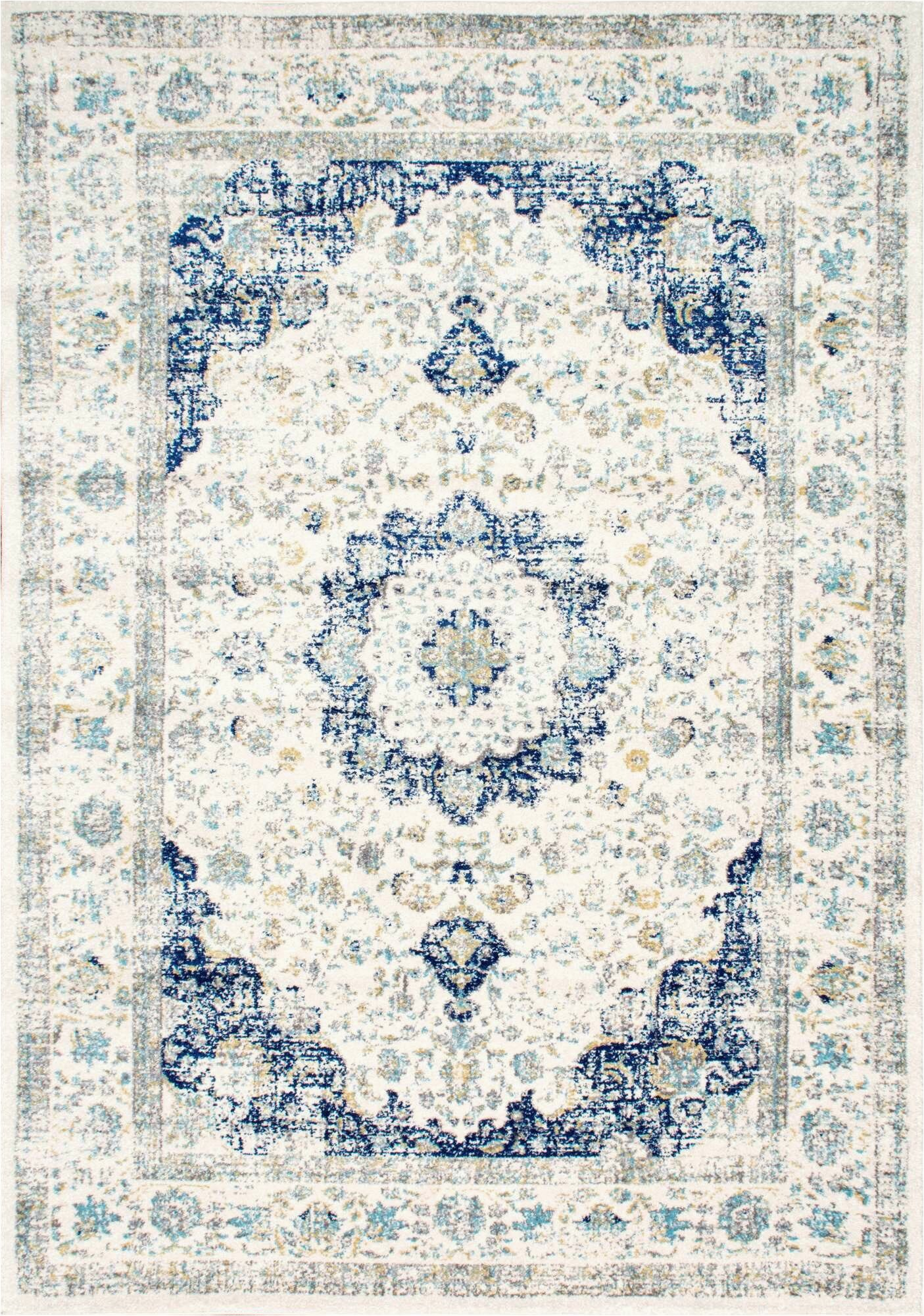 blue white area rugs c a1247 a1247