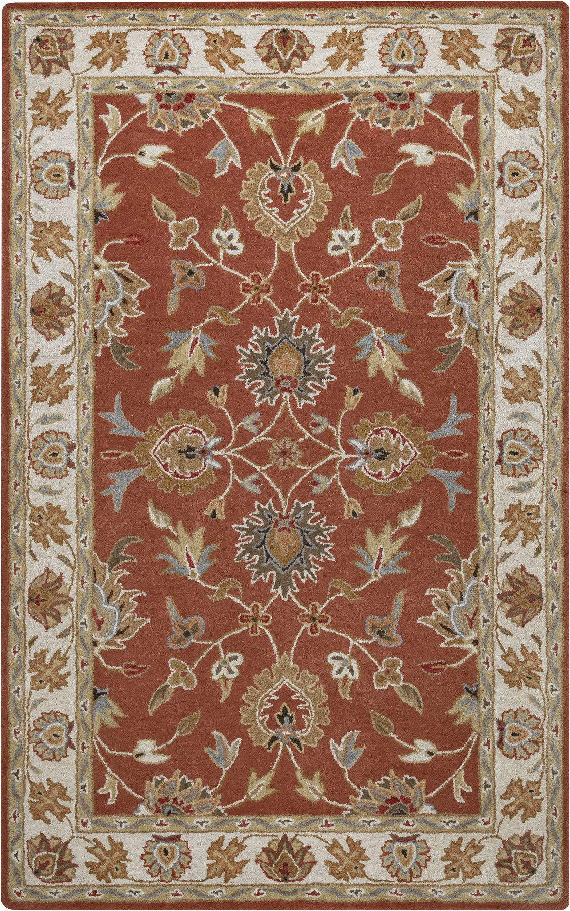 Rust Colored 8×10 area Rug Vn9713 Color Rust Size 8 X 10