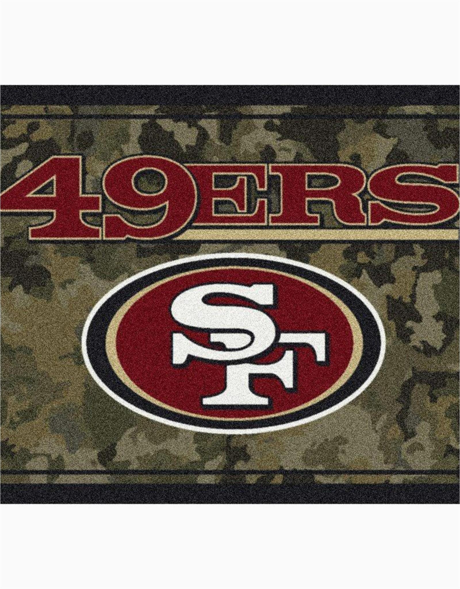 san francisco 49ers 46 x 64 camo area rug