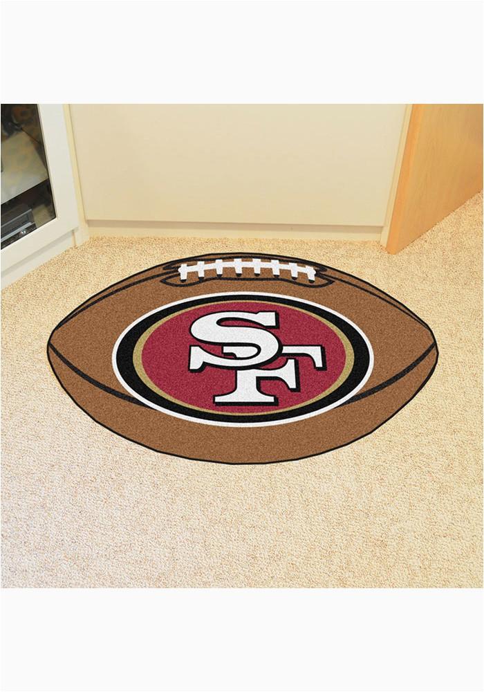 san francisco 49ers 22x35 football interior rug