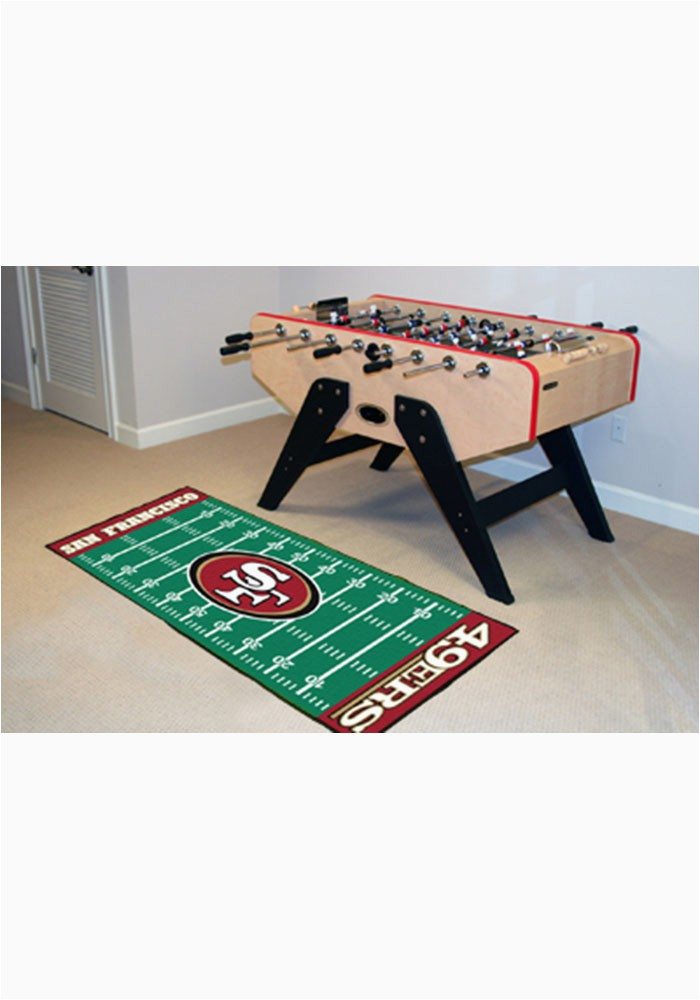 san francisco 49ers 30x72 runner rug interior rug