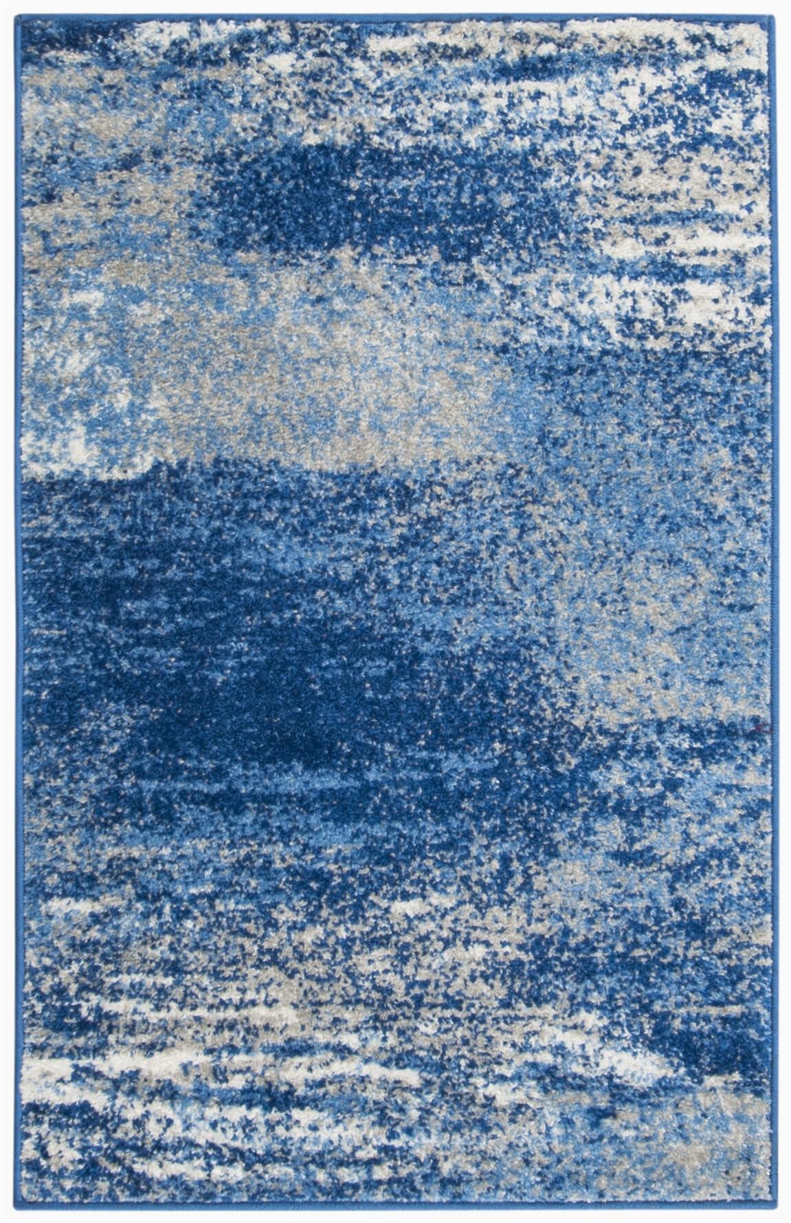 costa mesa abstract silverblue area rug