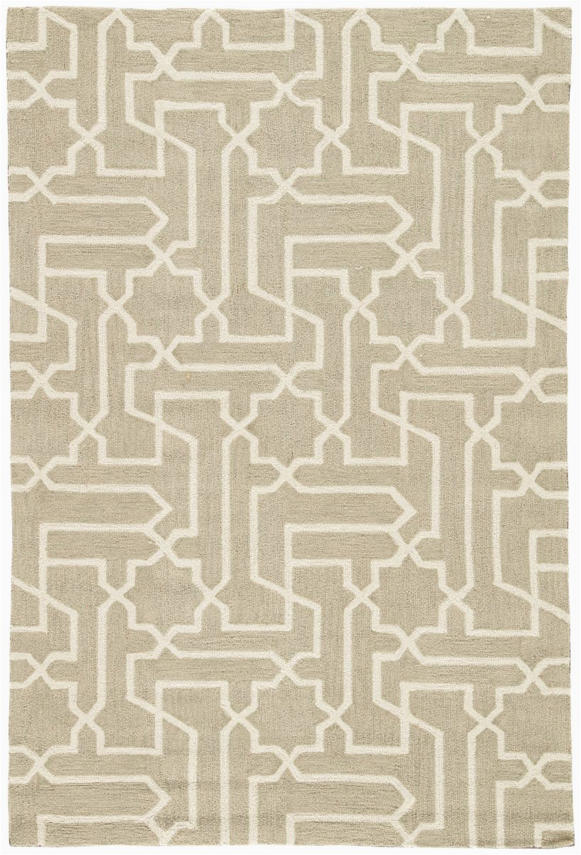 Taupe and White area Rug Jaipur Living Fusion Linx Fn40 Simply Taupe Antique White area Rug Clearance
