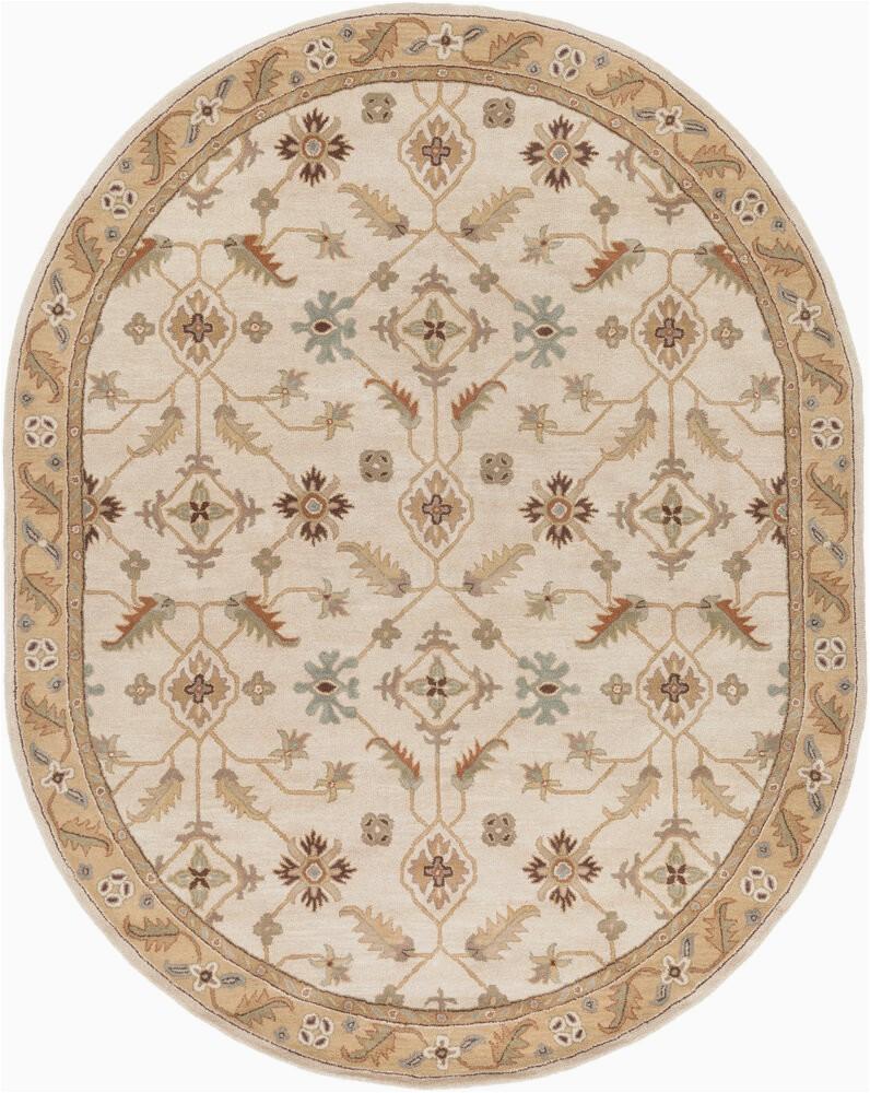 graziani floral handmade tufted wool tan area rug
