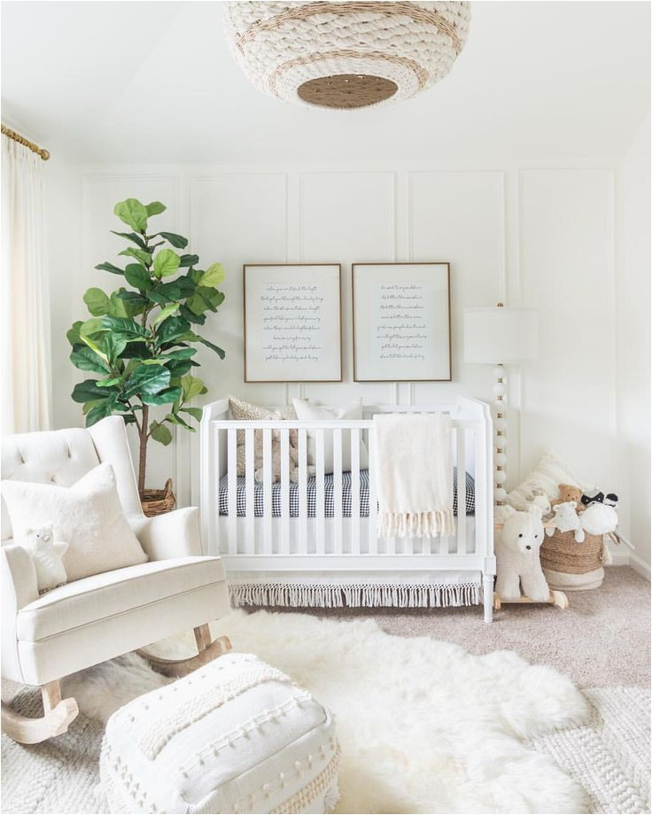 White area Rug for Nursery White Baby Nursery with Beautiful Plush Shag White area Rug