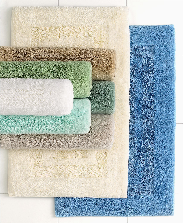 24 Inch Bath Rug Martha Stewart Collection Plush Squares Cotton 17 X 24