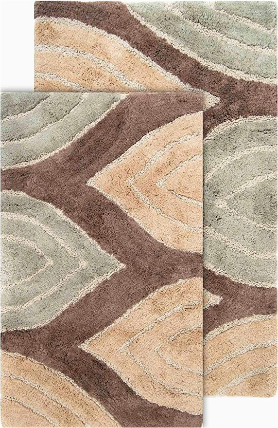 40 X 24 Bath Rug Amazon Chesapeake Davenport 2 Pc Tan Bath Rug Set