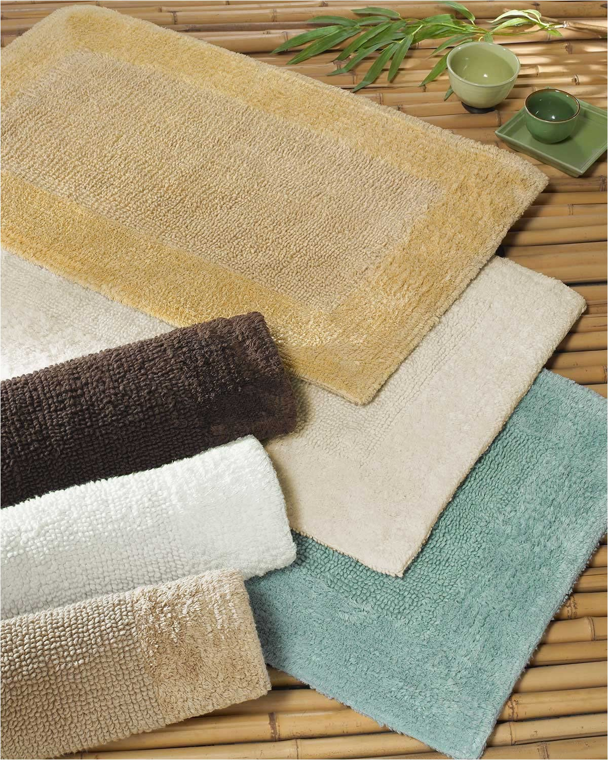 40 X 24 Bath Rug Amazon Luxor Linens Anini Spa Bamboo and Cotton Bath