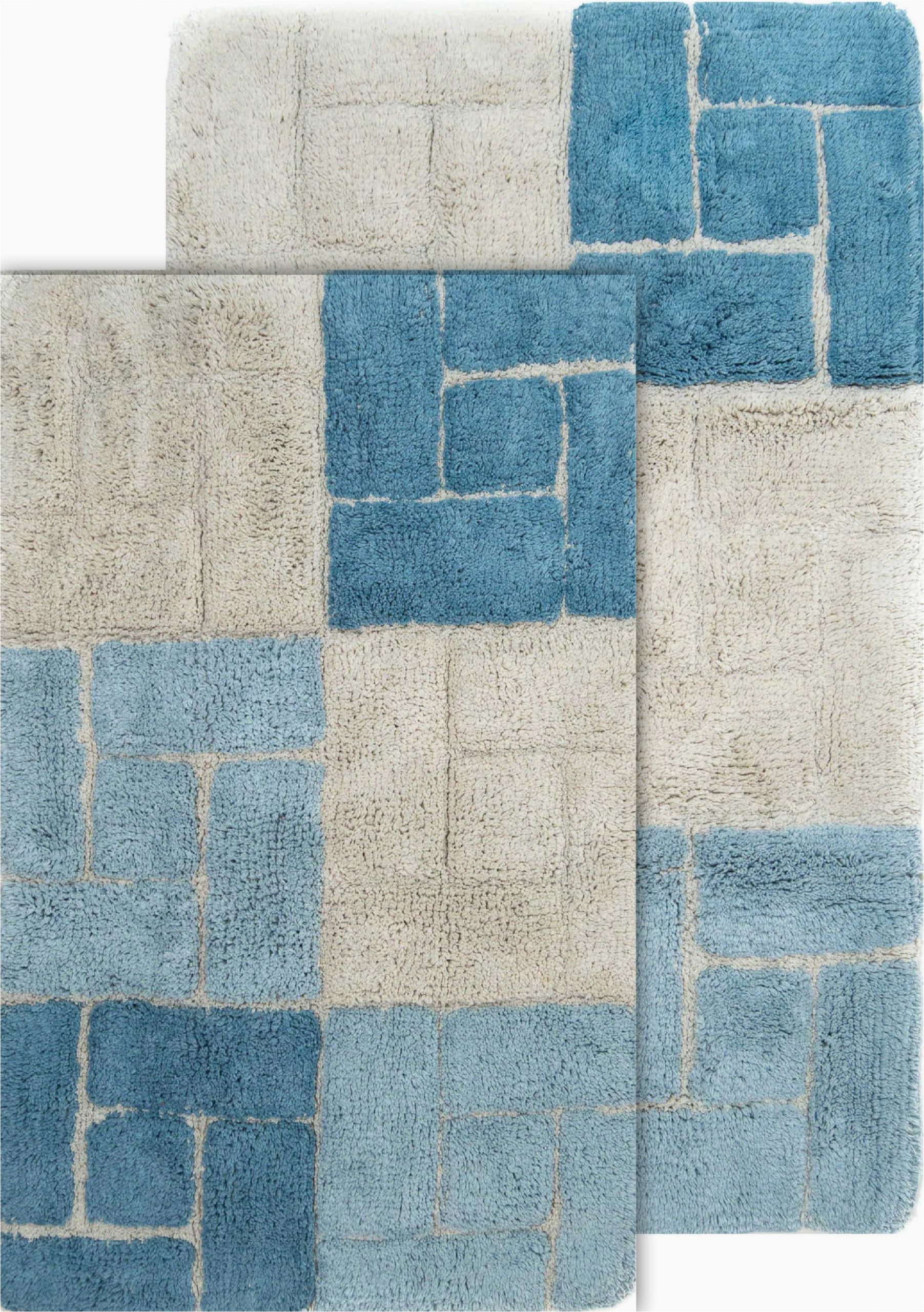"40 X 24 Bath Rug Chesapeake Berkeley 2pc Aquamarine Bath Rug Set 21""x34"" & 24""x 40"" Walmart"