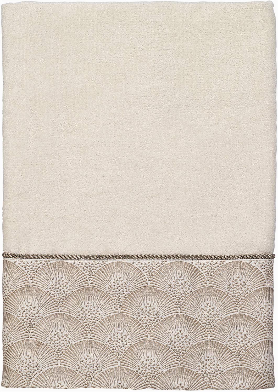 Avanti Galaxy Bath Rug Avanti Linens Deco Shell Bath towel E Size Ivory