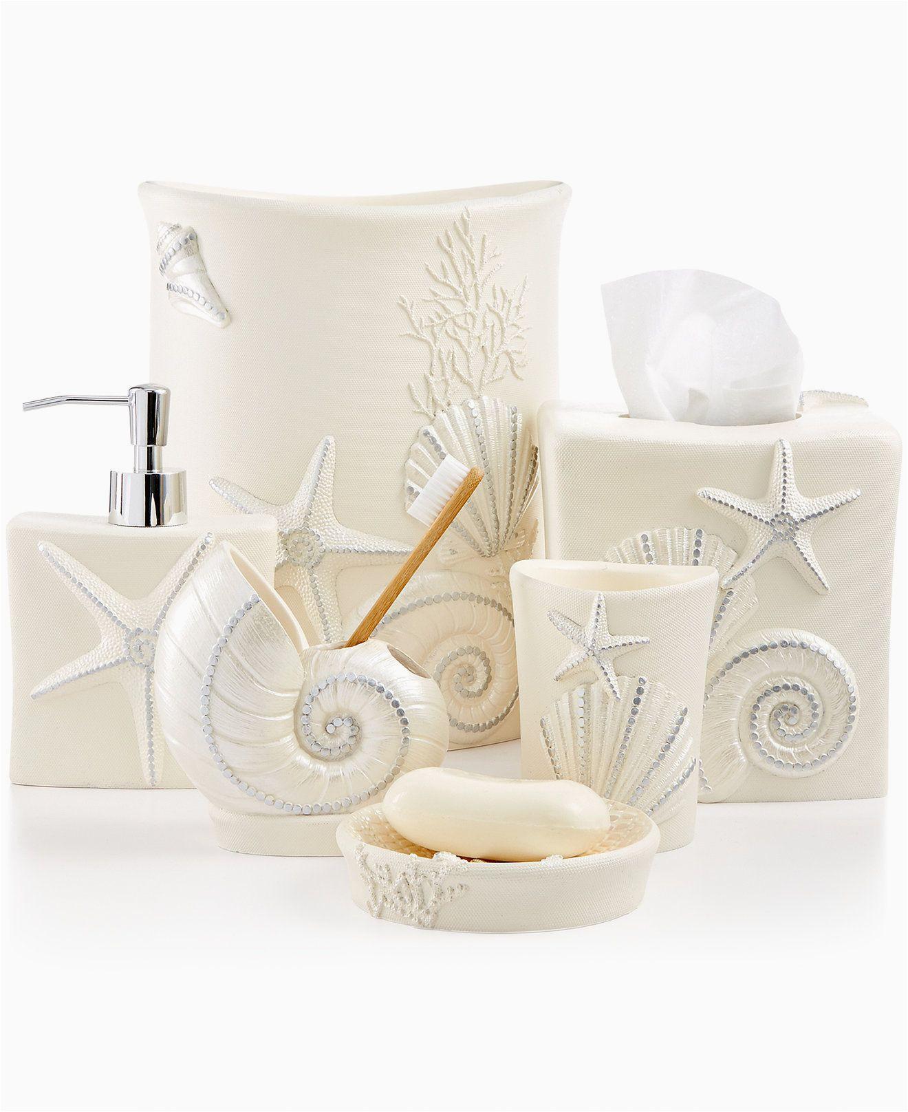 Avanti Sequin Shell Bath Rug Avanti Bath Sequin Shells Accessories Collection Bathroom