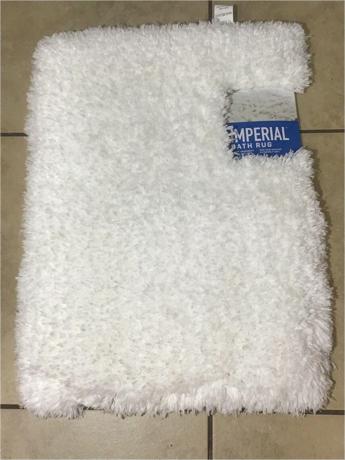 "Bath Rug 17 X 24 New White Imperial Super soft Bath Rug 17""x 24"" Non Skid Bathroom Design"