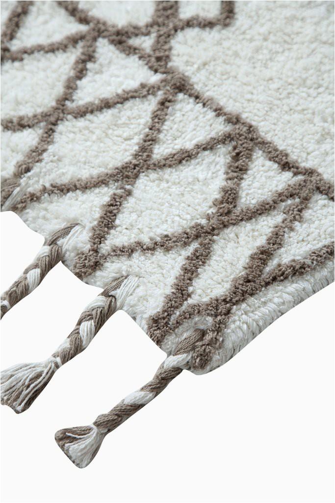 casa platino oversized cotton non skid bath rug 22x60 inch diamod22x60