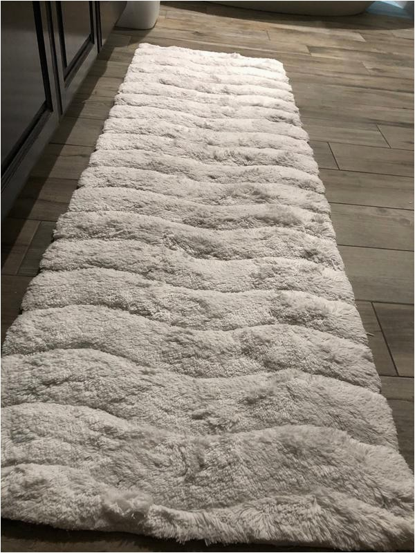 "Bath Rug Runner 20 X 60 Better Trends Indulgence Bath Rug 20"" X 60"" White"