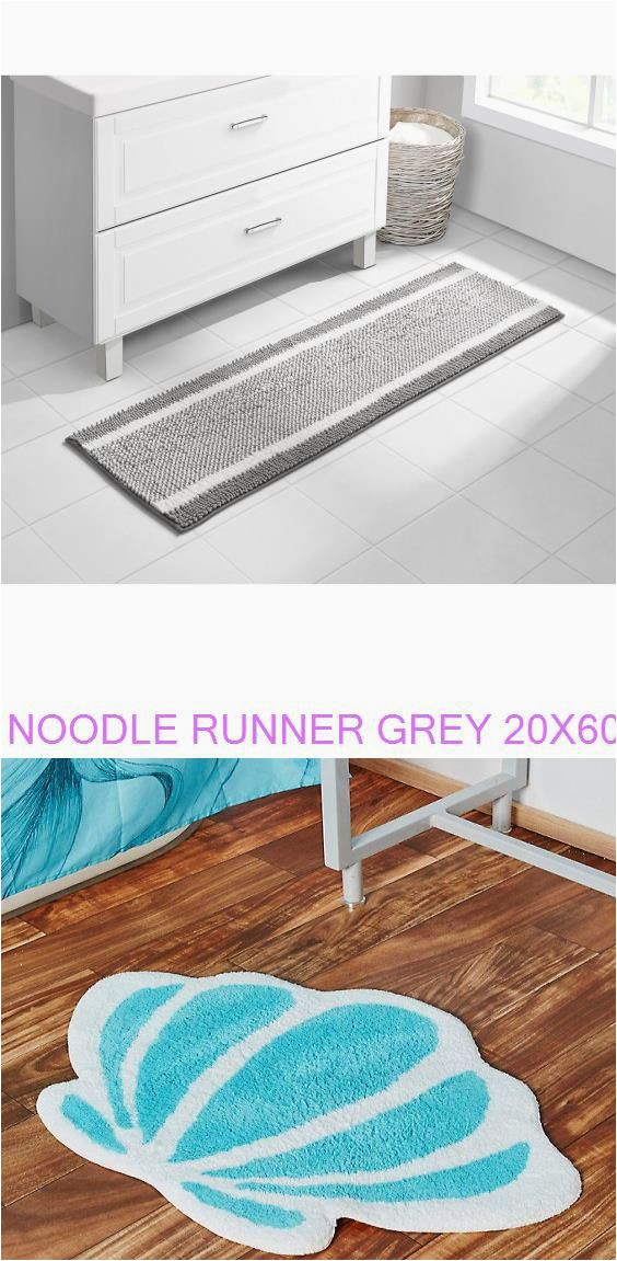Bath Rug Runner 20 X 60 Noodle Runner Grey 20×60 Disney the Little Mermaid Seashell