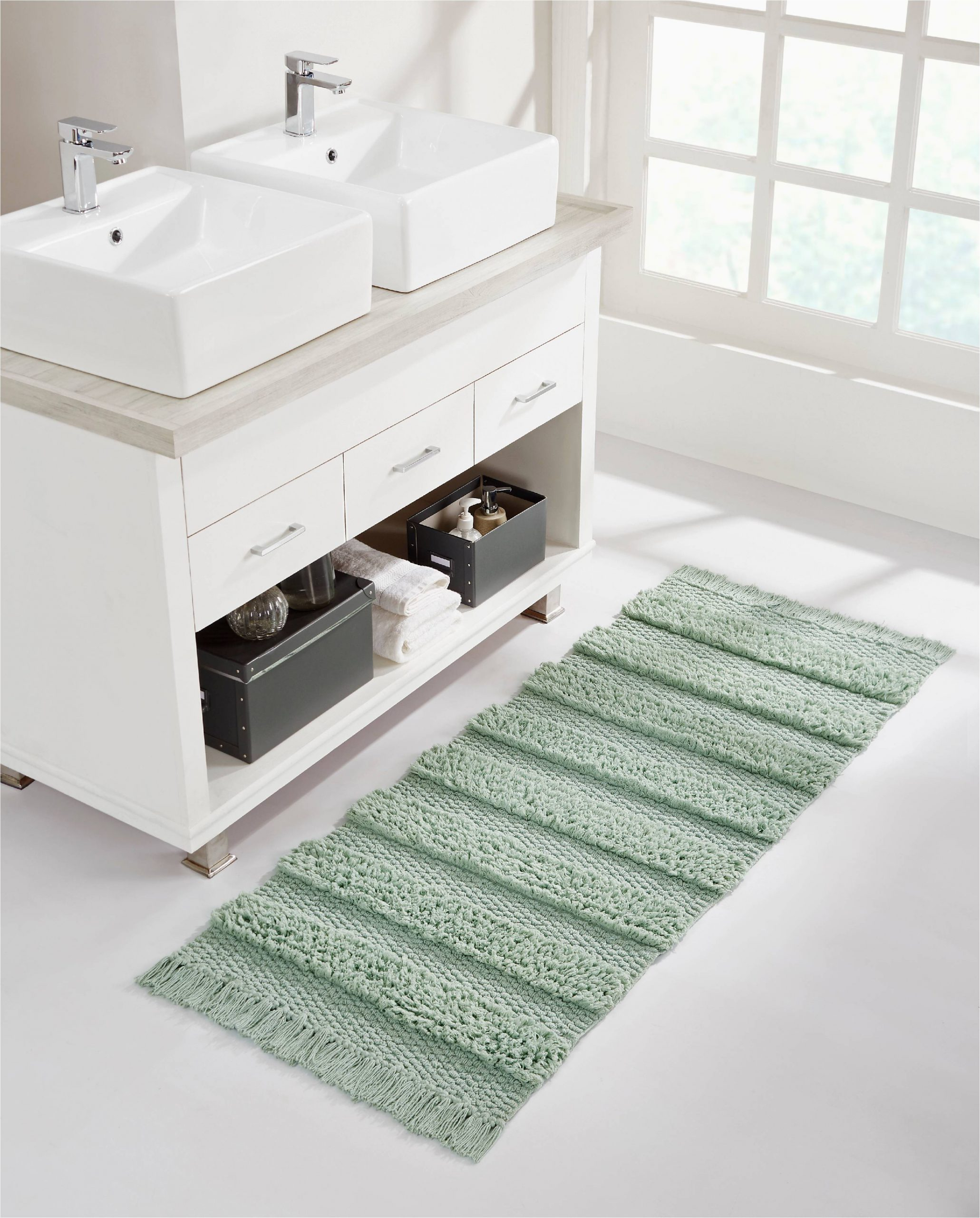 Bath Rug Runner 20 X 60 Vcny Home Savannah Fringe Stripe Bath Rug Runner 24 X 60 Sage